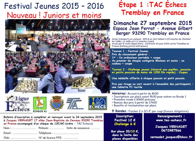 Festival Jeunes - étape 1 à Tremblay-en-France : dimanche 27 septembre