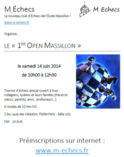 1er Open Massillon