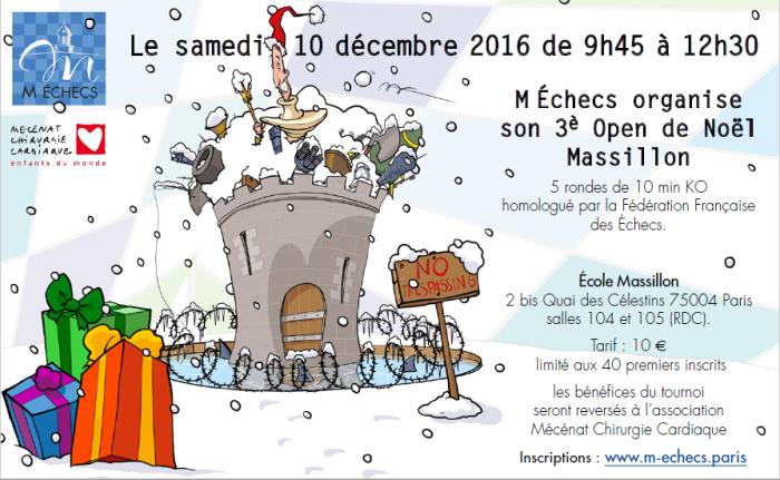3ème Open de Noël Massillon : samedi 10 décembre 2016