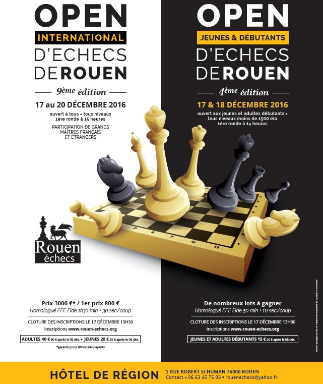 Proposition de tournoi (vacances de Noël) : l'Open de Rouen 2016 !