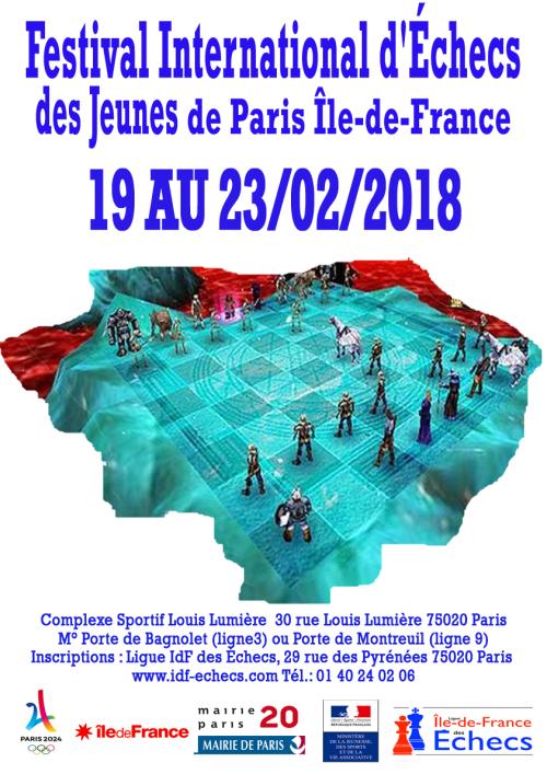 Festival International des Jeunes de Paris Île-de-France : du 19 au 23 février 2018