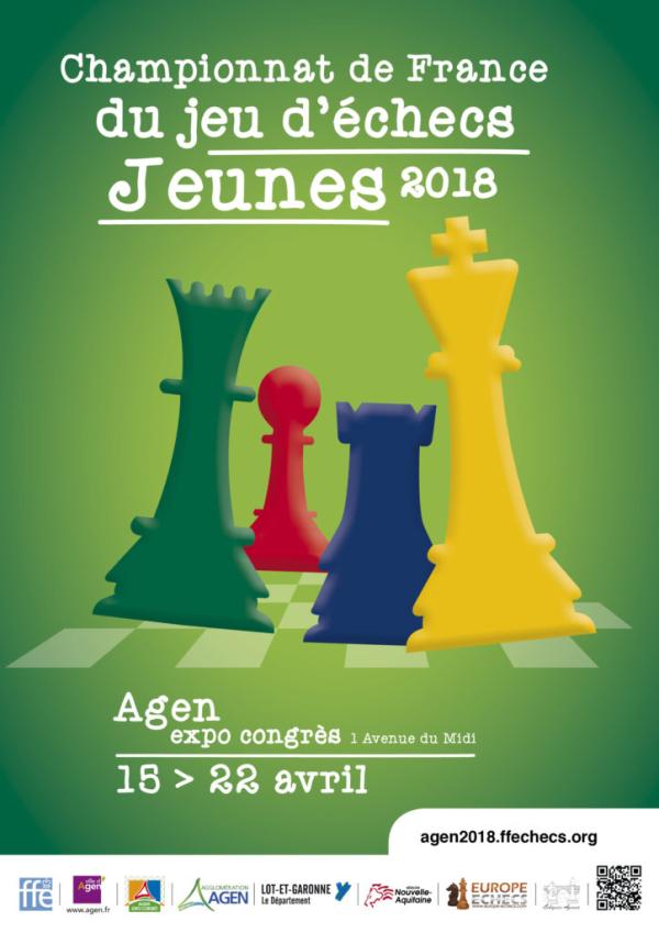 Championnat de France du jeu d'échecs à Agen du 15 au 22 avril