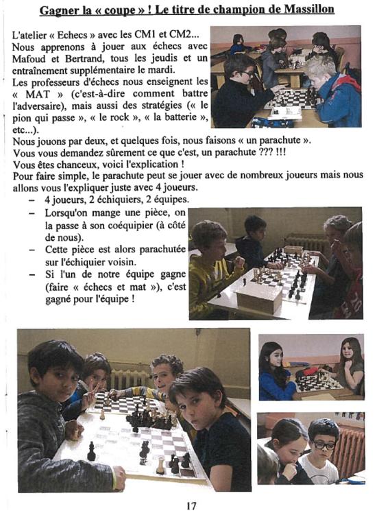 Article sur M Échecs dans The Massillon Journal (n°5) !