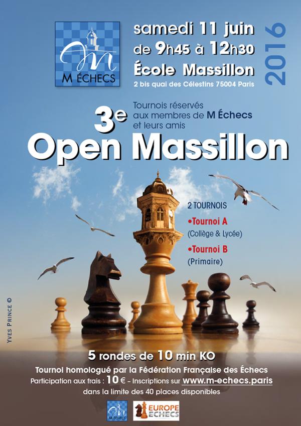3ème Open Massillon : samedi 11 juin 2016