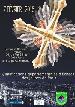 Qualifications départementales Championnat de France Jeunes 2015-2016