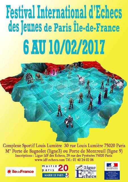 Festival International des Jeunes de Paris Île-de-France : du 6 au 10 février 2017