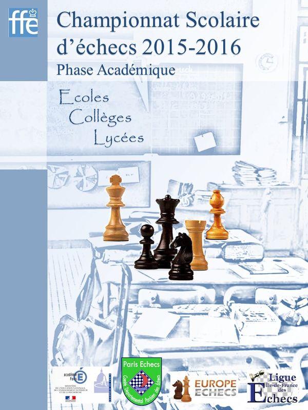 Championnats d'échecs de l'Académie de Paris 2016