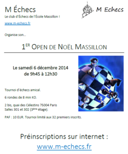1er Open de Noël Massillon