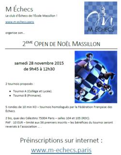 2ème Open de Noël Massillon