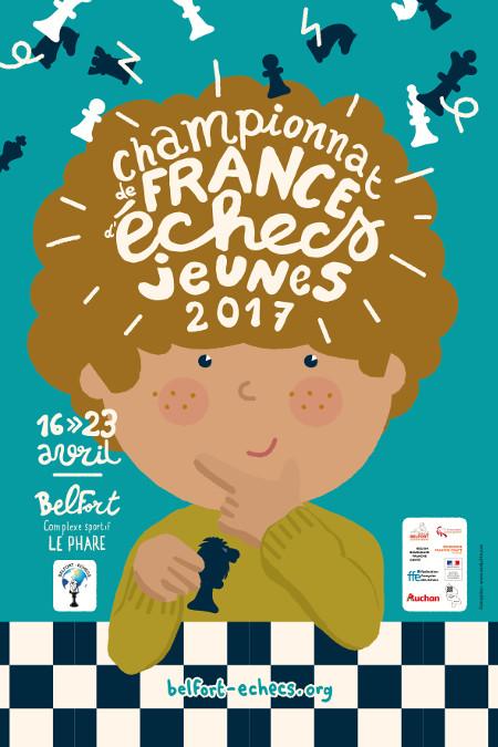Championnat de France d'échecs des Jeunes 2017 à Belfort