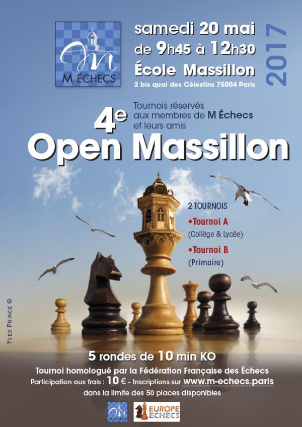 4ème Open Massillon : samedi 20 mai 2017