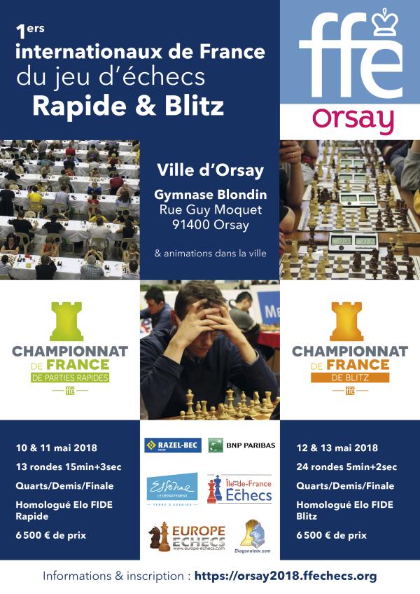Orsay 2018 : Internationaux de France du jeu d'échecs Rapide & Blitz