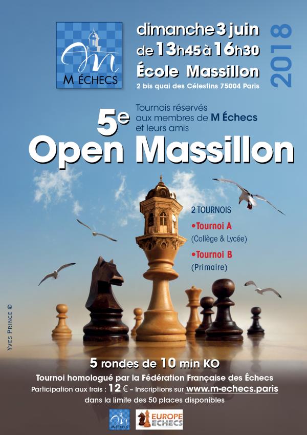 5ème Open Massillon : dimanche 3 juin 2018