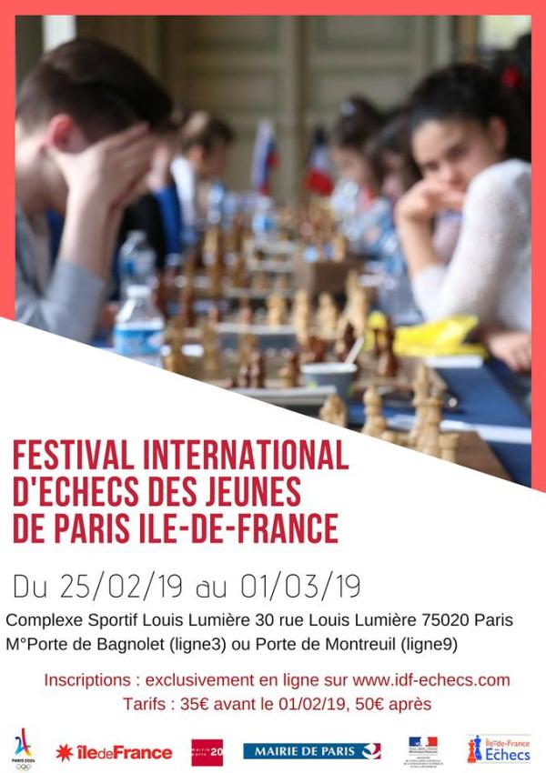 Festival International des Jeunes de Paris Île-de-France : du 25 février au 1er mars 2019