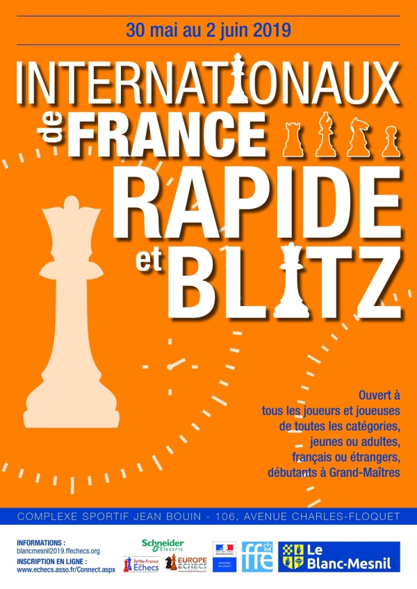 Internationaux de France Rapide & Blitz : du 30 mai au 2 juin