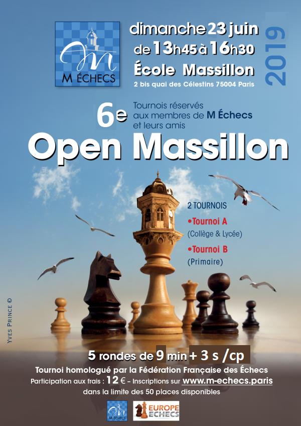 6ème Open Massillon : dimanche 23 juin 2019