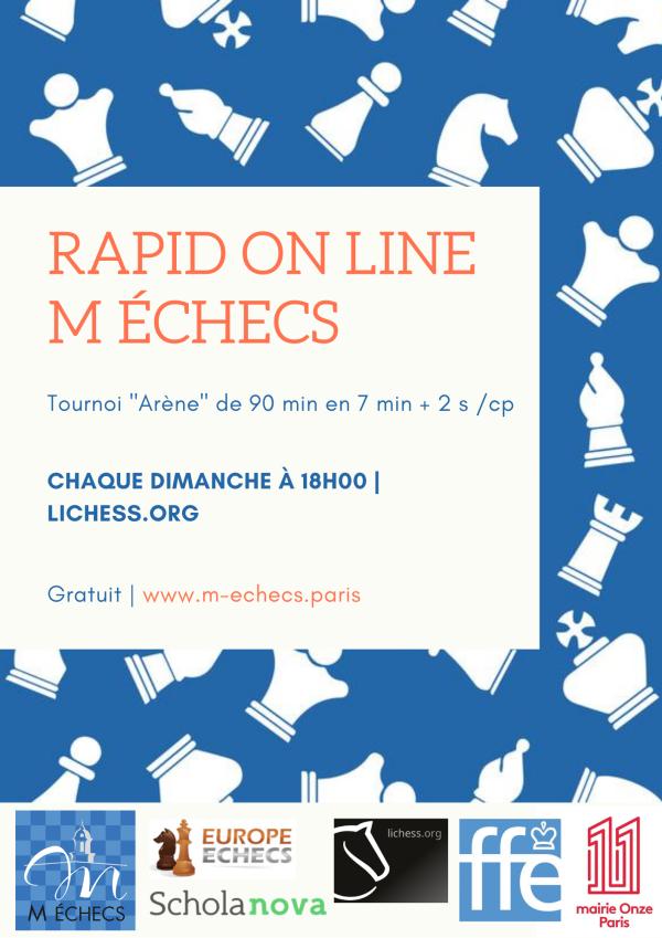 Rapid On Line M Échecs : chaque dimanche à 18h00 !